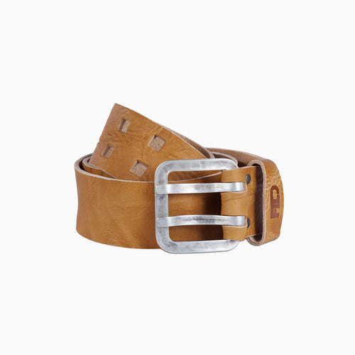 Brogan leather belt yellow