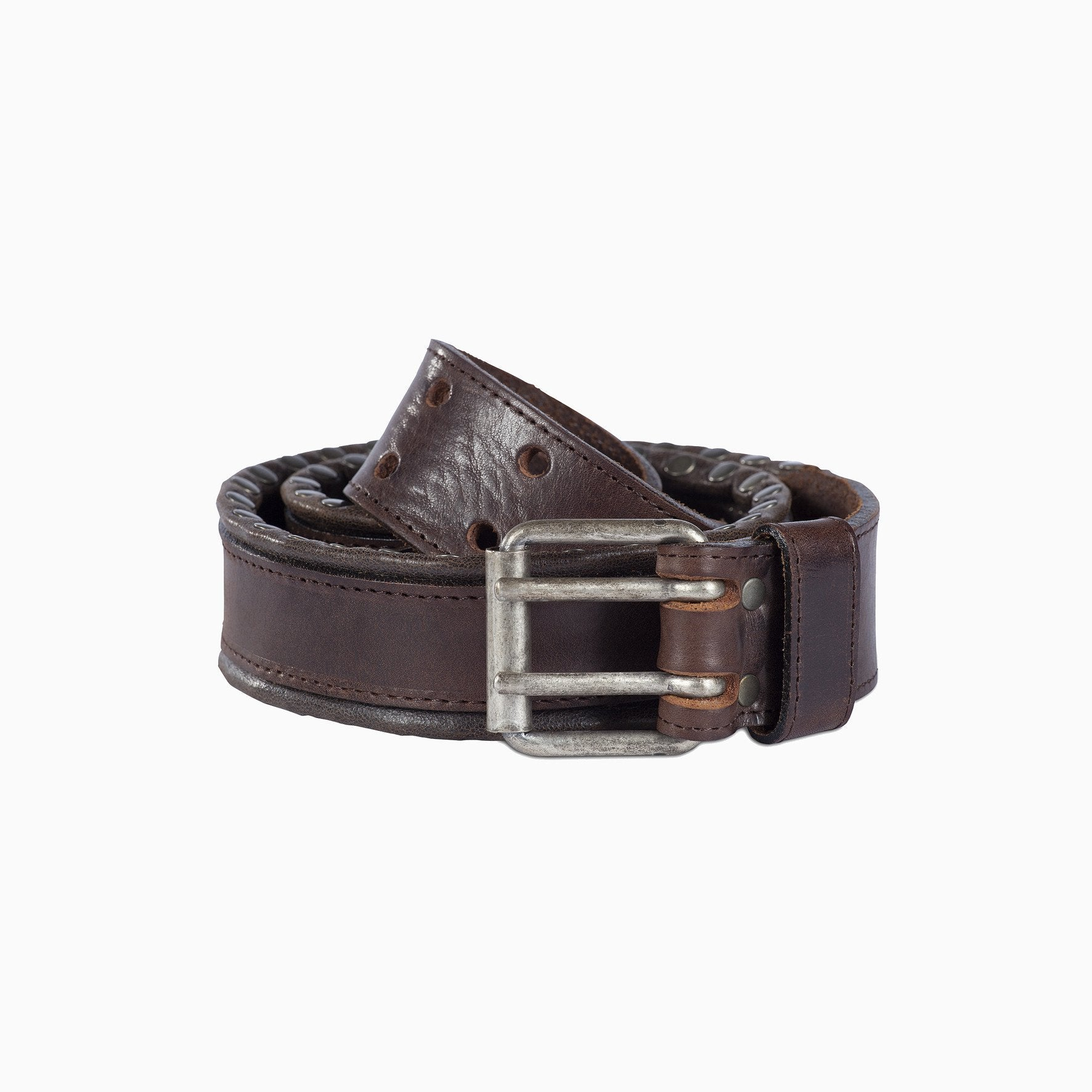 Dakota leather belt brown
