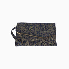 Iman leather clutch bag