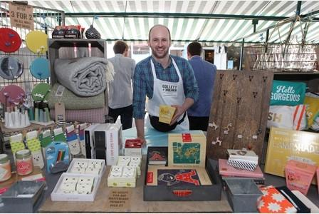 Collett & Holder Market Stall in Gloucestershire Echo