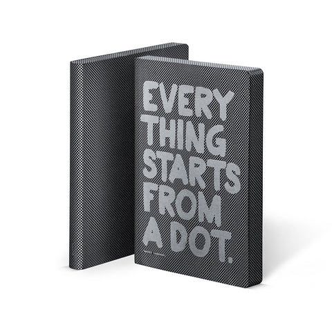 Everything Starts From A Dot Leather A5 Notebook | Nuuna Premium Stationery | Collett and Holder Gifted Living