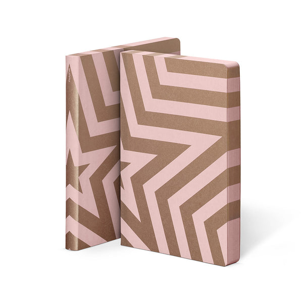 Super Star Pink Jeans Label Notebook | Nuuna | Premium Stationary