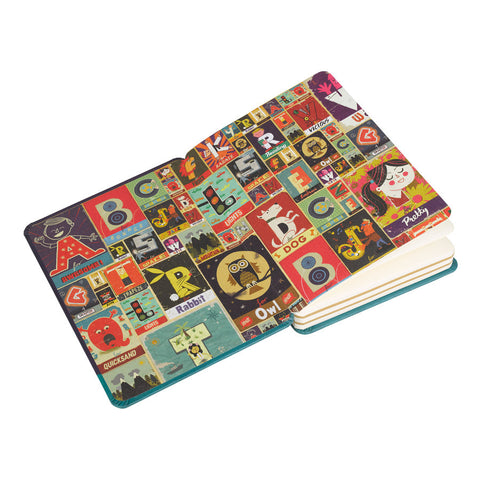 A is for Awesome A6 Notebook Front | Paul Thurlby | Wild and Wolf | Collett and Holder | Gifted Living