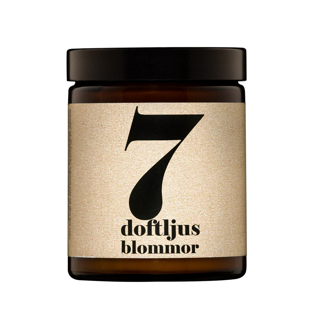 No.7 Flowers Scented Candle | Terrible Twins Spa Series | Luxury Scented Candle | Collett & Holder Gifted Living
