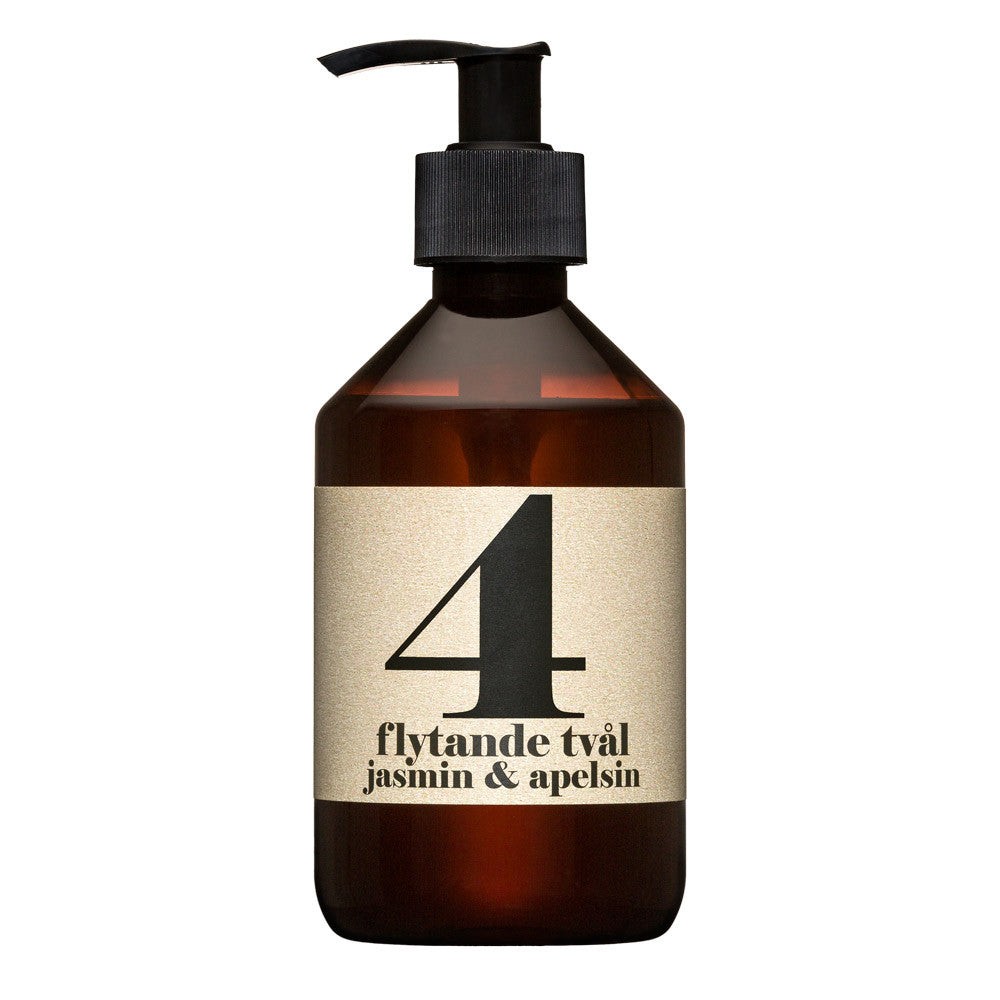 No.4 Jasmine & Orange Liquid Soap | Terrible Twins Spa Series | Luxury Soap | Collett & Holder Gifted Living