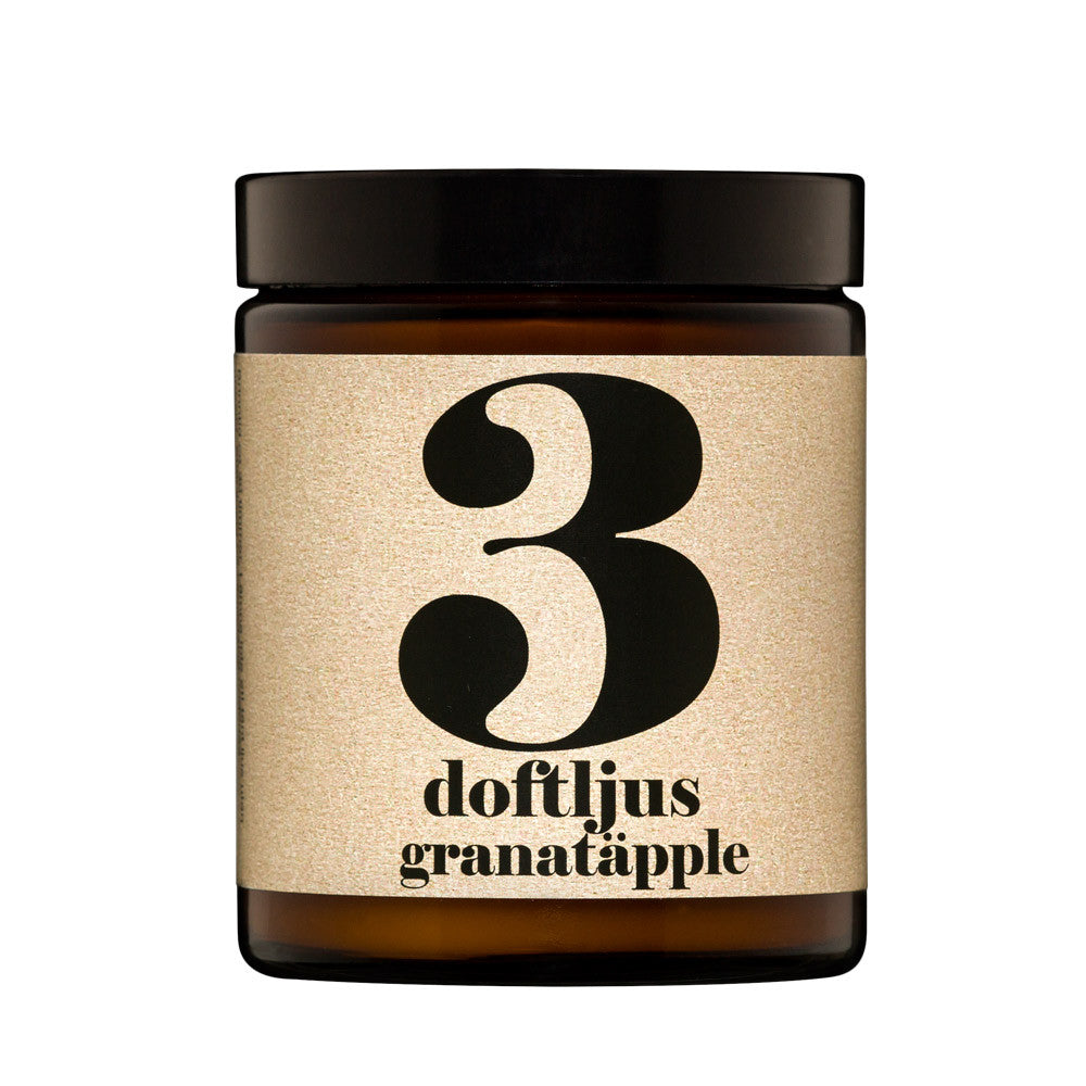 No.3 Pomegranate Scented Candle | Terrible Twins Spa Series | Luxury Scented Candle | Collett & Holder Gifted Living