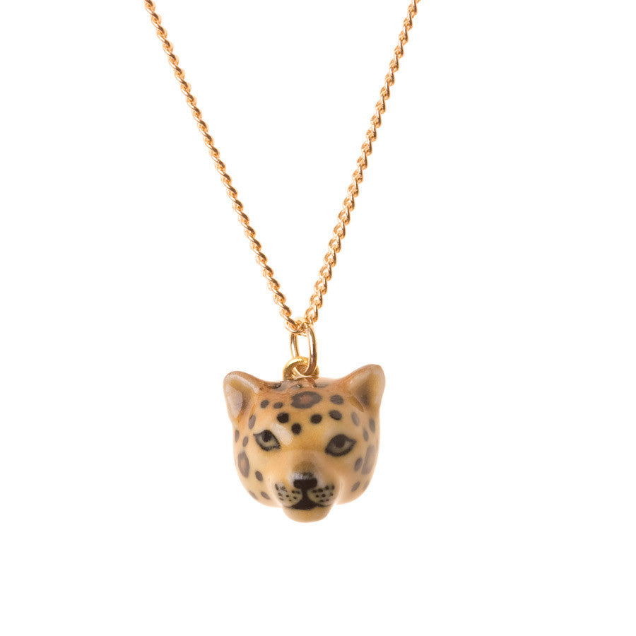 Porcelain Leopard Head Necklace | And Mary Jewellery | Collett and Holder