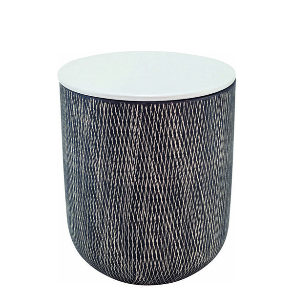 Ceramic Crosshatch Storage Jar Small - Black/White | Unique Storage Jars and Containers | Collett and Holder Gifted Living