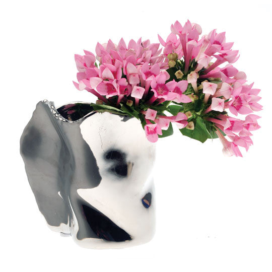 ALU Chrome Volcano Vase | Quirky Vases Chive | Collett & Holder - Gifted Living