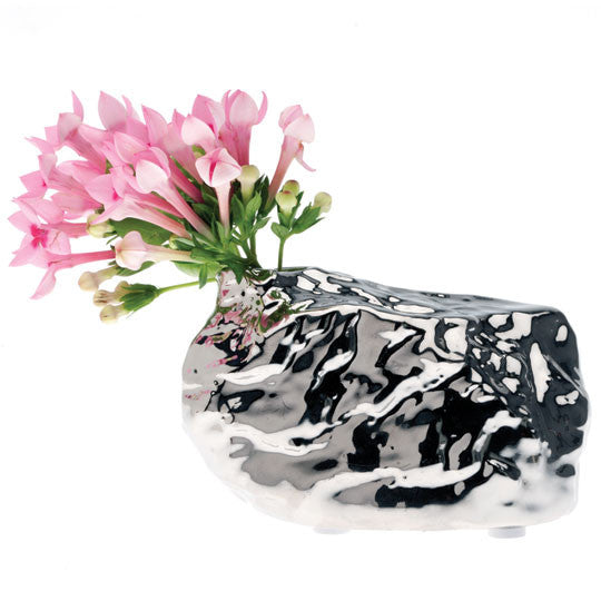 ALU Chrome Rock Vase Large | Quirky Vases Chive | Collett & Holder - Gifted Living