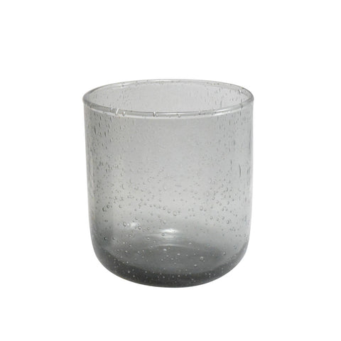 Dassie Artisan Neela Bubble Tumbler set of 6 in grey | Handmade glassware | Collett and Holder Gifted Living