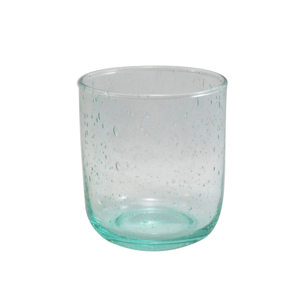 Dassie Neela Tumbler Set of 6 Turquoise cut out | Hand Blown Glass Tumblers | Collett and Holder Gifted Living