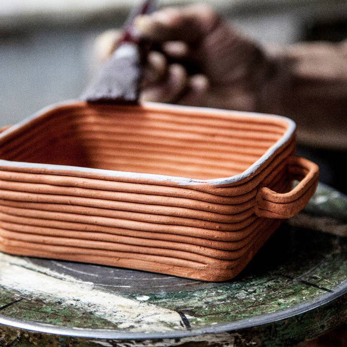 Artisan Finish | Ceramiche Tapinassi  Handmade Ceramic Baking Tray White | Italian Coiled Cookware | Collett and Holder Gifted Living | lifestyle