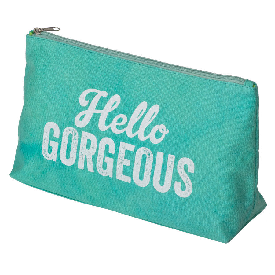 Hello Gorgeous Canvas Wash Bag | NY-LON Everyday Goods | Collett & Holder - Gifted Living