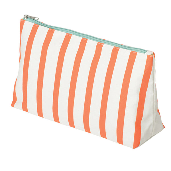 Orange Stripe Canvas Wash Bag | NY-LON Everyday Goods | Collett & Holder - Gifted Living