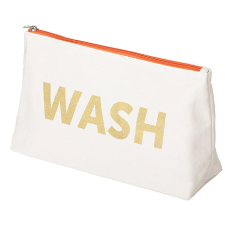 WASH Logo Canvas Wash Bag | NY-LON Everyday Goods | Collett & Holder - Gifted Living
