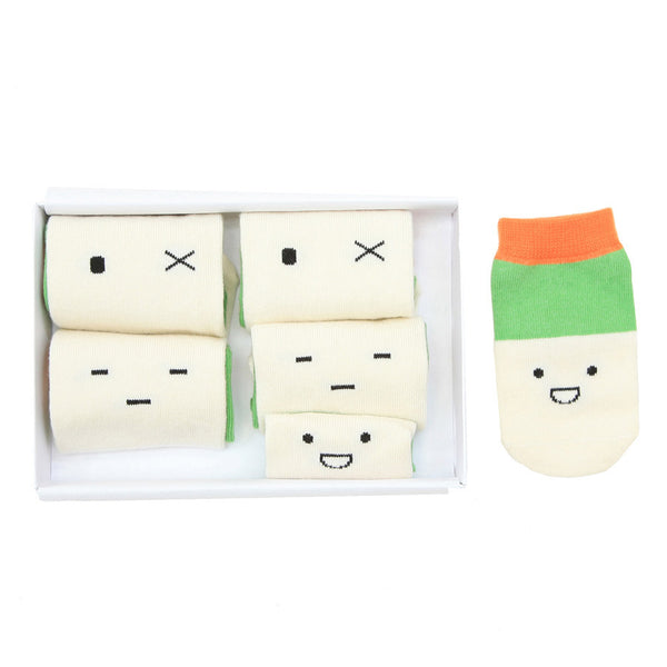 Petites Pattes Emoji Family Socks Gift Box | Quirky Baby Gift Idea | Collett and Holder Gifted Living