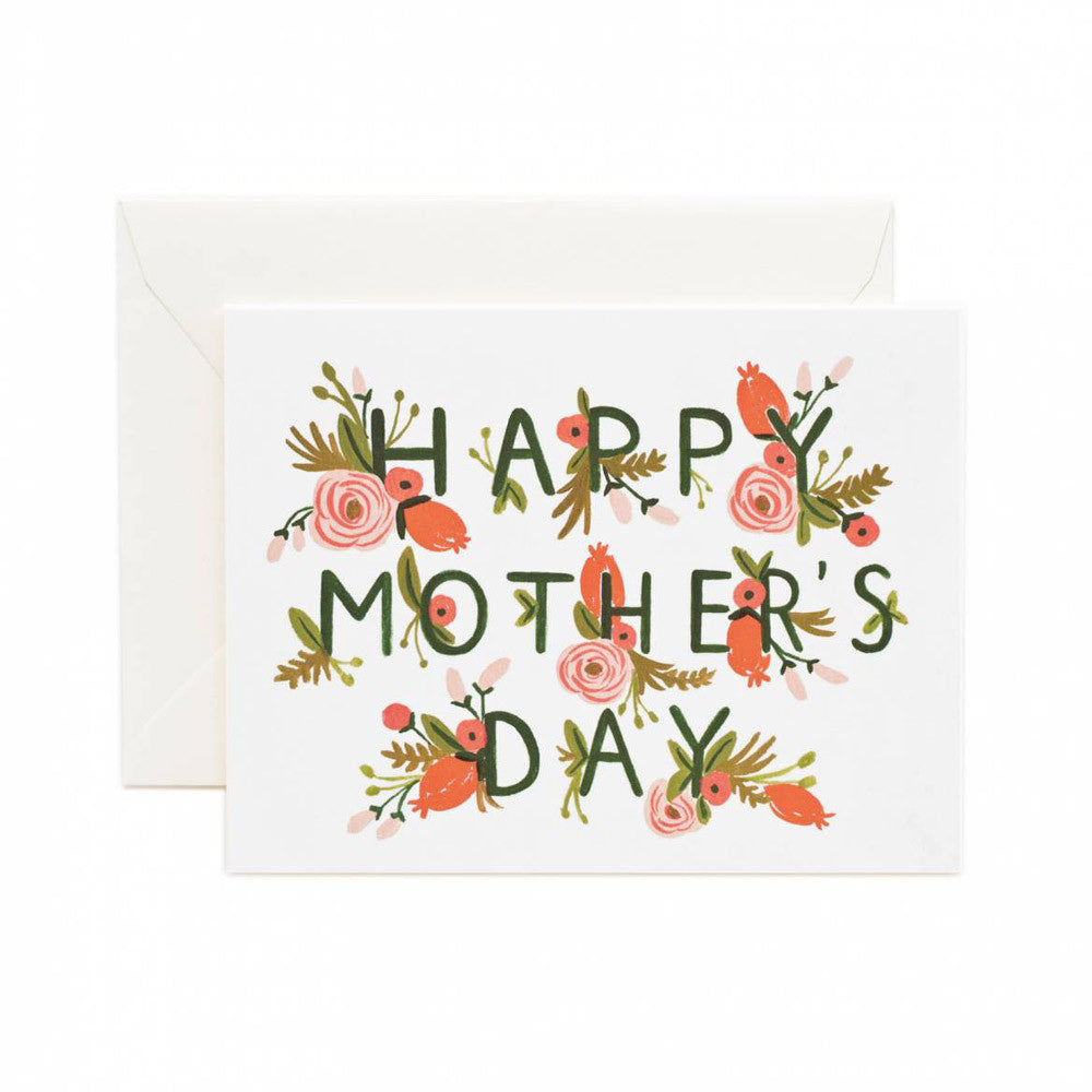 Happy Mother's Day Garden Note Card | Rifle Paper Co | Unusual Stationery | Collett & Holder