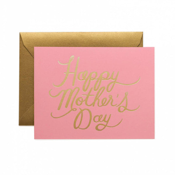 Happy Mother's Day Pretty in Pink Note Card | Rifle Paper Co | Unusual Stationery | Collett & Holder