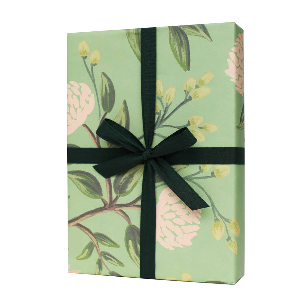 Peonies Floral Giftwrap Sheet x3 | Rifle Paper Co | Pretty Floral Wrapping Paper | Collett & Holder