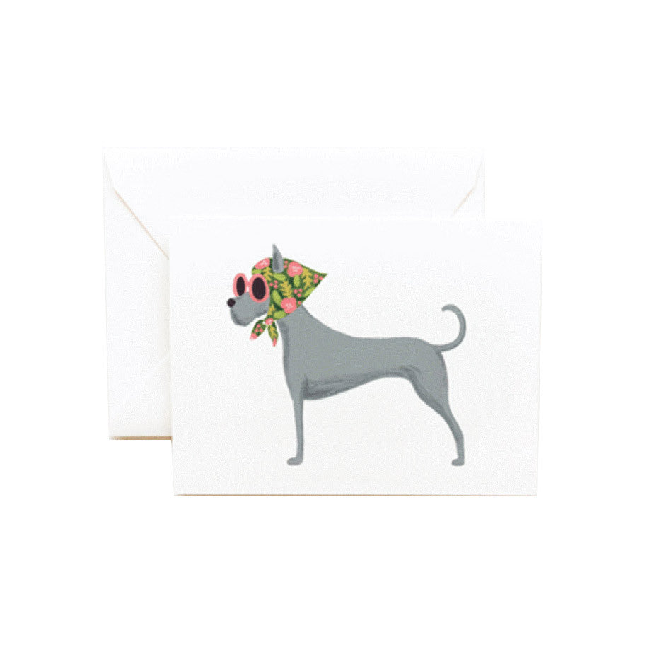 Lady Great Dane Blank Note Card | Rifle Paper Co | Unusual Stationery | Collett & Holder