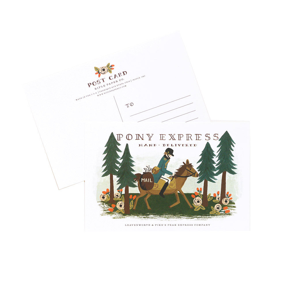 Pony Express Postcard Set | Rifle Paper Co | Unusual Stationery | Collett & Holder