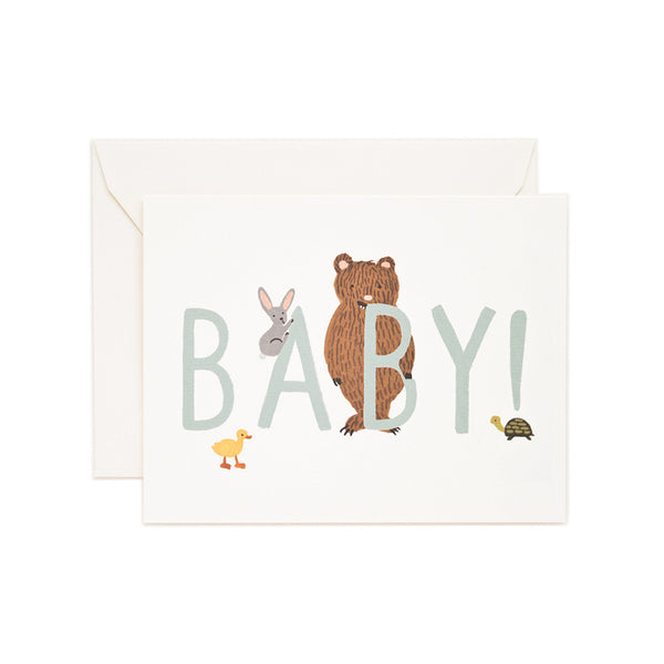 New Baby Mint Blank Note Card | Rifle Paper Co | Unusual Stationery | Collett & Holder