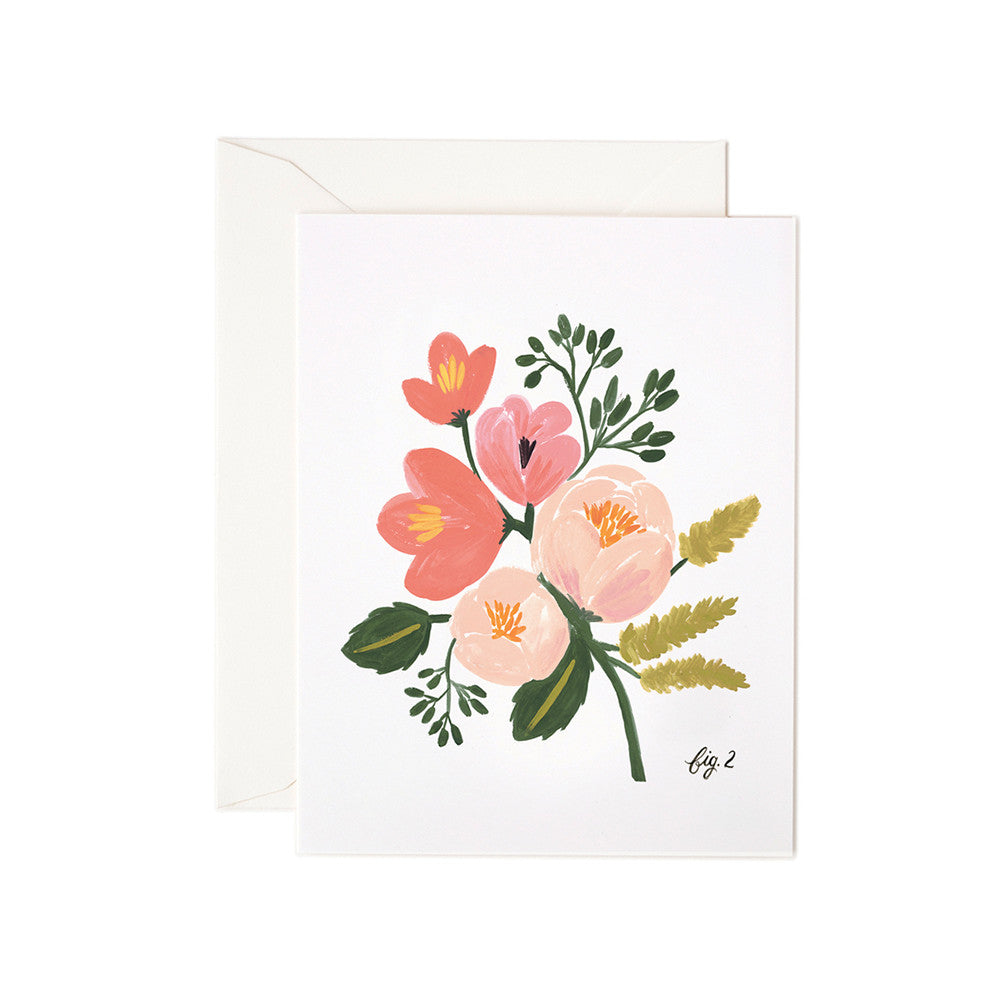 Peony Pink Floral Blank Note Card | Rifle Paper Co | Unusual Stationery | Collett & Holder