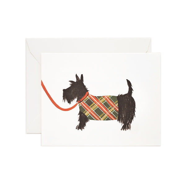 Scottie Dog Blank Note Card | Rifle Paper Co | Unusual Stationery | Collett & Holder