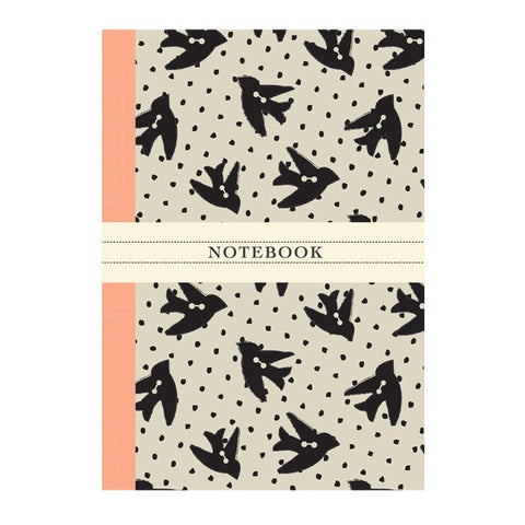 Vintage Bird Button Notebook | Rosehip | Vintage Style Stationary | Collett & Holder