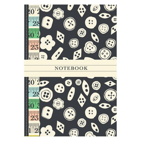 Vintage Black and white Button Notebook | Rosehip | Vintage Style Stationary | Collett & Holder