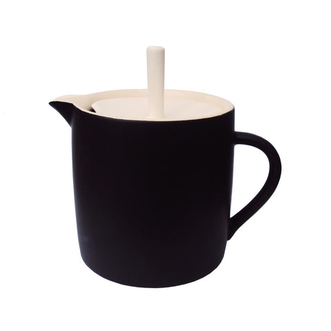 Sue Ure Maison Teapot Black | Sue Ure Handcrafted Tableware | Collett and Holder Gifted Living