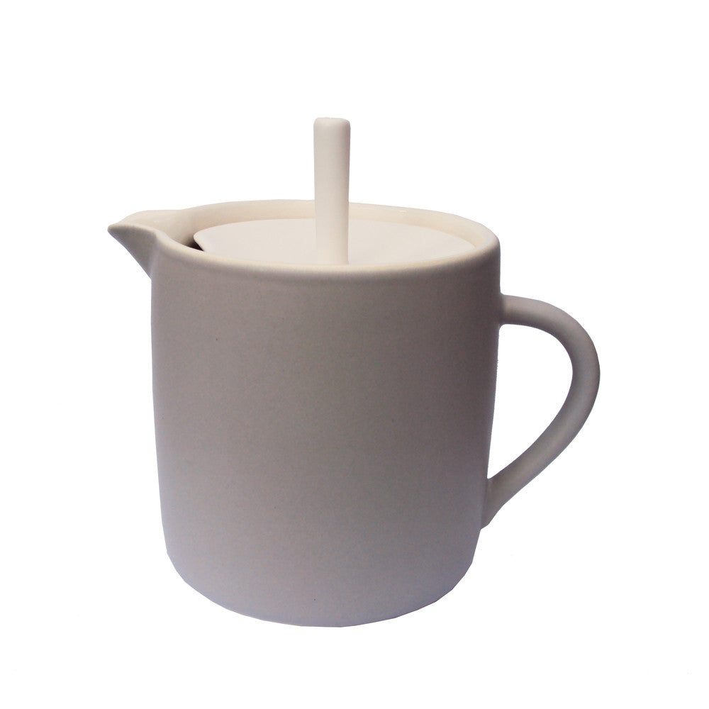 Sue Ure Maison Teapot Dove Grey | Sue Ure Handcrafted Tableware | Collett and Holder Gifted Living