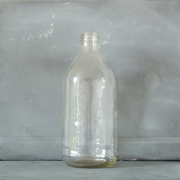Vintage Glass LAB Bottle Medium | Vintage Saline Bottle | Unique Glassware & Vases | Collett & Holder