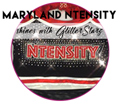 Maryland Ntensity Cheer teams up with GlitterStarz to create Unique custom Uniforms that SHINE!