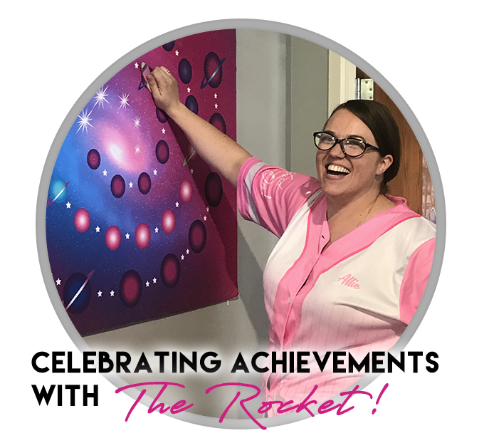"Celebrating Achievements with ""The Rocket!"""