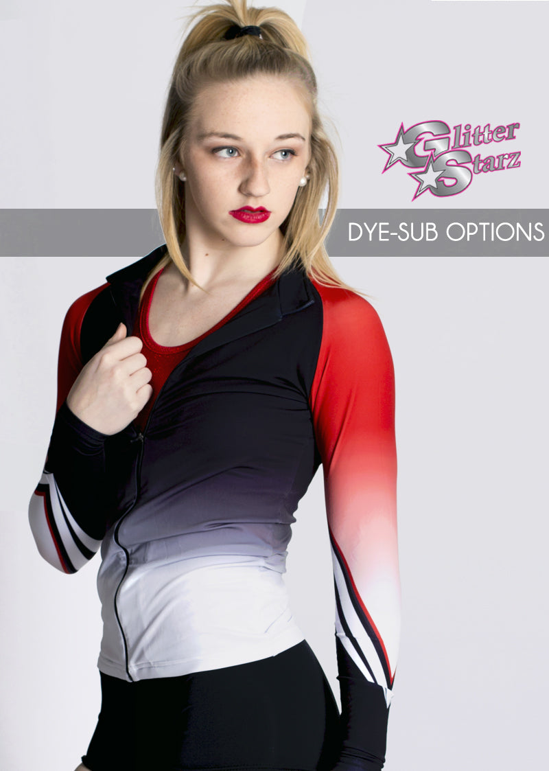 Dye-Sub-Jacket-GlitterStarz-Custom-Rhinestone-Warmup-With-Bling-Team-Logo-And-Rhinestone-Name-For-Cheerleading-And-Dance-and-Gymnastics-Warmups-Jacket