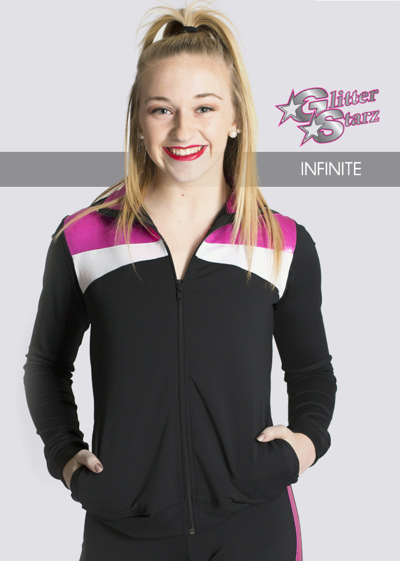 INFINITE-GlitterStarz-Custom-Rhinestone-Warmup-With-Bling-Team-Logo-And-Rhinestone-Name-For-Cheerleading-And-Dance-and-Gymnastics-Warmups-Jacket