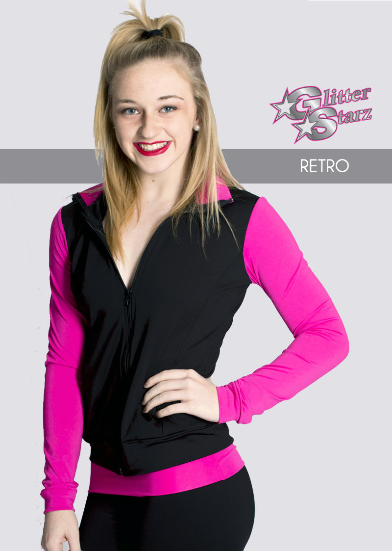 RETRO-GlitterStarz-Custom-Rhinestone-Warmup-With-Bling-Team-Logo-And-Rhinestone-Name-For-Cheerleading-And-Dance-and-Gymnastics-Warmups-Jacket