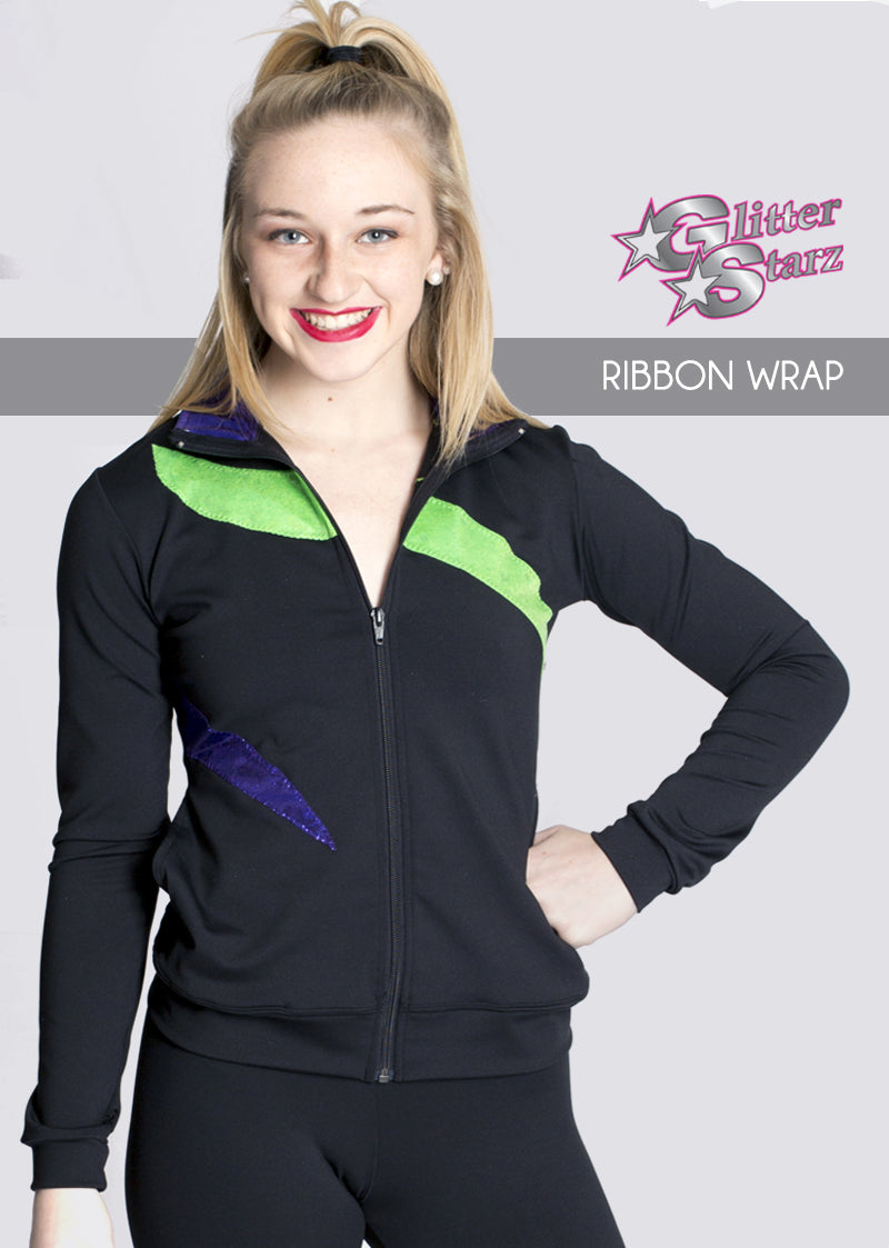 RIBBONWRAP-GlitterStarz-Custom-Rhinestone-Warmup-With-Bling-Team-Logo-And-Rhinestone-Name-For-Cheerleading-And-Dance-and-Gymnastics-Warmups-Jacket