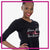 Extreme Kids Dance Academy 3/4 Length Sleeve Shirt with Rhinestone Logo