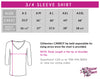 GlitterStarz GlitterGirl Fashion Bling Fashion 3/4 Length Sleeve VNeck Shirt with Rhinestone Logo