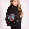 Mile High Cheer Rhinestone Backpack with Glitter Vinyl Logo