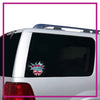Mile High Cheer Glitter Vinyl Clingz Window Decal All in Rhinestones