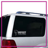 Impact Dance Studio Bling Clingz Window Decal All in Rhinestones