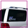 Kentucky Cheer All Stars Bling Clingz Window Decal All in Rhinestones