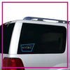 NYTBC Bling Clingz Window Decal All in Rhinestones