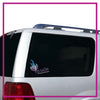 Ignite Bling Clingz Window Decal All in Rhinestones