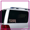 The Dance Factory Bling Clingz Window Decal All in Rhinestones
