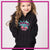 Mile High Cheer Glitter Vinyl Pullover Hoodie with Rhinestone Logo